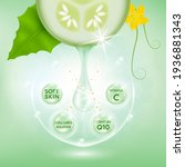cucumber white body serum ...   Shutterstock .eps vector #1936881343