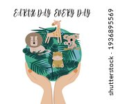 earth day every day. vector...   Shutterstock .eps vector #1936895569