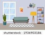 cartoon living room with...   Shutterstock .eps vector #1936903186