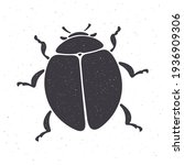 silhouette of bug top view....   Shutterstock .eps vector #1936909306