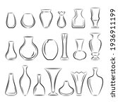 a set of vases of different...   Shutterstock .eps vector #1936911199