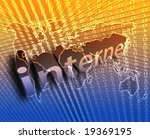 internet background with world... | Shutterstock . vector #19369195