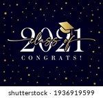 class of 2021 golden...   Shutterstock .eps vector #1936919599