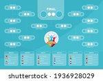 2020 match schedule  tournament ... | Shutterstock .eps vector #1936928029