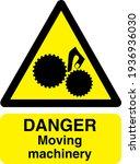 danger symbol moving machinery... | Shutterstock .eps vector #1936936030