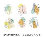 set of single line drawing of...   Shutterstock .eps vector #1936937776