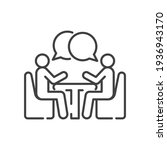 two people at the table line... | Shutterstock .eps vector #1936943170