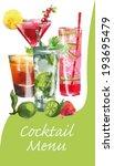 cocktail menu. vector background | Shutterstock .eps vector #193695479