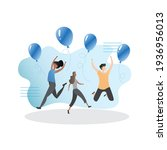 successful  happy  joyful group ... | Shutterstock .eps vector #1936956013