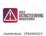 april is distracted driving... | Shutterstock .eps vector #1936960213