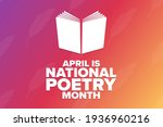 april is national poetry month. ... | Shutterstock .eps vector #1936960216