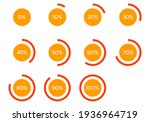 circle percent diagram.... | Shutterstock .eps vector #1936964719