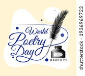 world poetry day  march 21.... | Shutterstock .eps vector #1936969723