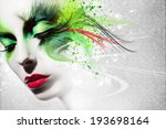 beautiful woman  artwork with... | Shutterstock . vector #193698164