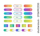 colored gradient buttons. game...