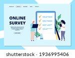 online survey landing page.... | Shutterstock . vector #1936995406