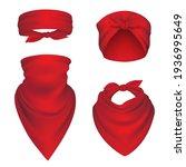 bandanas realistic. headbands... | Shutterstock . vector #1936995649