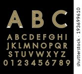 alphabetic fonts | Shutterstock .eps vector #193699610
