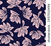pink navy floral botanical...   Shutterstock .eps vector #1937010496