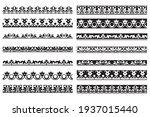 set of decorative floral... | Shutterstock .eps vector #1937015440