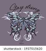 Stay Strong Slogan With...