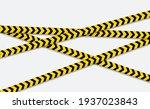 caution and danger line. black... | Shutterstock .eps vector #1937023843