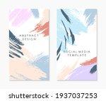 set of editable insta story... | Shutterstock .eps vector #1937037253