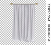 white simple curtains on a... | Shutterstock .eps vector #1937042683
