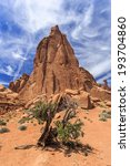Tall Nature Desert Mountain...