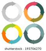 set of 4 isolated circular... | Shutterstock .eps vector #193706270
