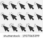 set of clicks icon. cursor sign.... | Shutterstock .eps vector #1937065399