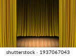 gold curtain and light of... | Shutterstock .eps vector #1937067043