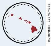 hawaii round stamp. round logo... | Shutterstock .eps vector #1937074396