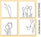 vector botanical with line art... | Shutterstock .eps vector #1937075440