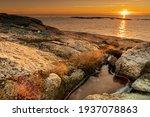 Seascape  Sunset Over The Sea ...