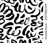 black paint freehand scribbles... | Shutterstock .eps vector #1937082199