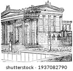 Erechtheum Restored  Building...