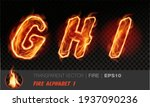 alphabet of fire. transparent...   Shutterstock .eps vector #1937090236