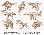 vector vintage big set of... | Shutterstock .eps vector #1937091706