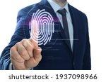 Man Using Biometric Fingerprint ...