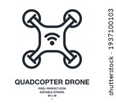 wireless quadcopter drone... | Shutterstock .eps vector #1937100103