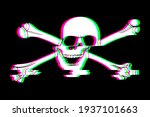 skull icon glitch vintage...   Shutterstock . vector #1937101663