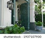 A Big Steel Door At The...