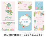 collection of spring holiday... | Shutterstock .eps vector #1937111356