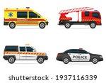 vehicles of various emergency... | Shutterstock .eps vector #1937116339