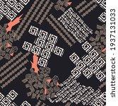 seamless patchwork pattern on... | Shutterstock .eps vector #1937131033