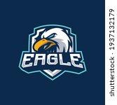 eagle mascot logo design... | Shutterstock .eps vector #1937132179