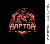 raptor mascot logo design... | Shutterstock .eps vector #1937137453