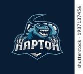 raptor mascot logo design... | Shutterstock .eps vector #1937137456