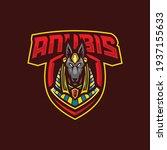 anubis mascot logo design... | Shutterstock .eps vector #1937155633